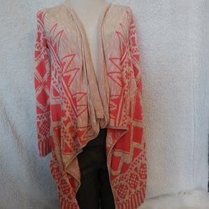 Say what pink tribal cardigan SM